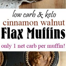 Cinnamon Walnut Flax Muffins