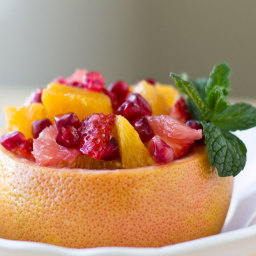 Citrus Salad with Strawberries and Pomegranate