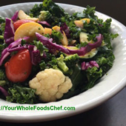 Citrusy Cauliflower Kale Summer Salad