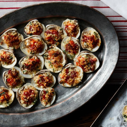 Clams Casino with Bacon and Bell Pepper