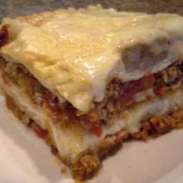 Classic Lasagna With Meat Sauce, Tomatoes and Bechamel Sauce ( L