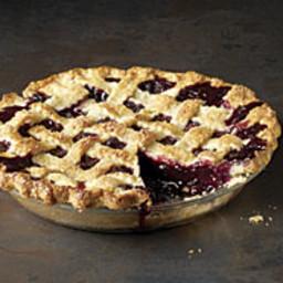 Classic Lattice-Top Blueberry Pie