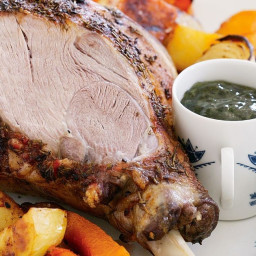 Classic roast lamb and gravy