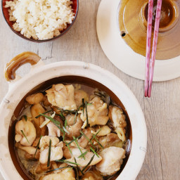 CLAY POT CHICKEN WITH GINGER AND LIME LEAVES (4 servings)