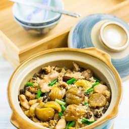 Claypot Rice with Chicken and Chestnuts Recipe