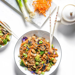 Clean Chicken and Veggie Chow Mein