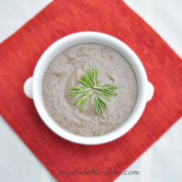 Clean Eating Cream of Mushroom Soup