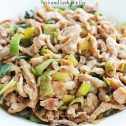 Clean Eating Dinner Recipe – Pork and Leek Stir Fry
