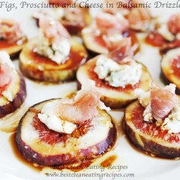 Clean Eating Snack Recipe – Figs, Prosciutto and Cheese in Balsamic Drizzle