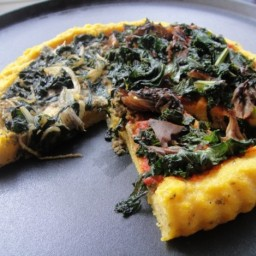 'Clean Start': Polenta Pizzas with Kale, Chard, and Parsley Pesto