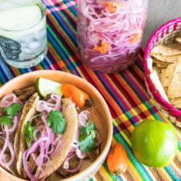 Cochinita Pibil and Pickled Onions