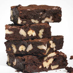 Cocoa Brownies with Browned Butter and Walnuts