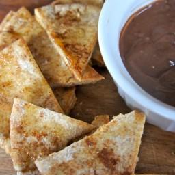 Cocoa-Cinnamon Pita Chips