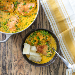 Coconut- and Ají Amarillo–Braised Chicken Recipe