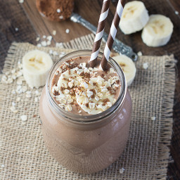Coconut, Banana and Chocolate Breakfast Smoothie