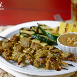 Coconut Beef Satay with Peanut Sauce
