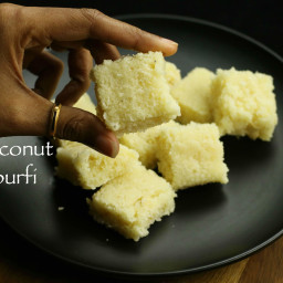 coconut burfi recipe | kobbari mithai recipe | nariyal barfi recipe