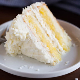 Coconut Cake with Pineapple Filling