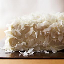 Coconut Cake with Saffron Cream