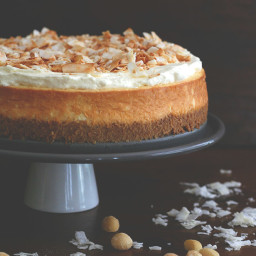 Coconut Cheesecake with Macadamia Nut Crust
