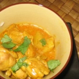 Coconut chicken curry stew