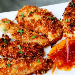 Coconut Chicken Tenders with Honey Marmalade Dipping Sauce