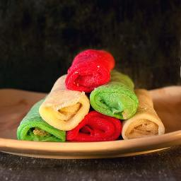 Coconut Crepes with Sugar Cane Molasses filling Recipe
