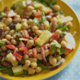 Coconut Curry Chickpea and Apple Salad