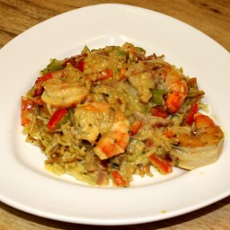 Coconut-Curry Prawns