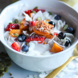 Coconut Flake and Roasted Sweet Potato Cereal