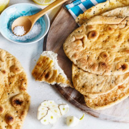 Coconut Flatbread with Greek Yogurt