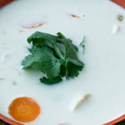 Coconut Green Chili Chicken Soup (dairy and gluten free)