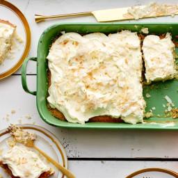 Coconut Key-Lime Sheet Cake