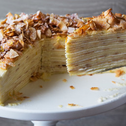 Coconut-Lemon Crepe Cake