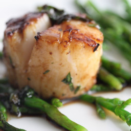 Coconut Lime Grilled Scallops