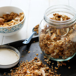 Coconut Macadamia Nut Granola