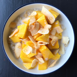 Coconut Mango Brown Rice Breakfast Bowl