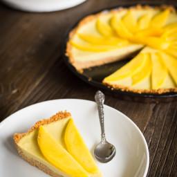 Coconut mango tart