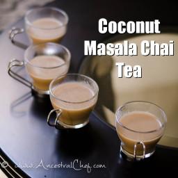Coconut Masala Chai Tea (Paleo, Dairy-Free)