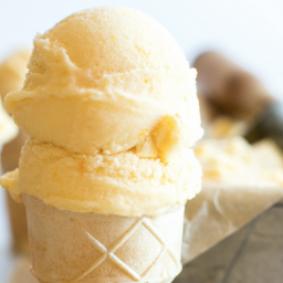 Coconut Milk Orange Sherbet
