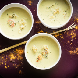 Coconut Milk Soup With Lobster