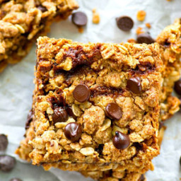 Coconut Oil Peanut Butter Caramel Chocolate Oat Bars