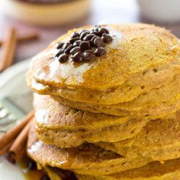 Coconut Oil Pumpkin Spice Pancakes