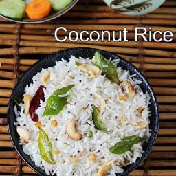 Coconut rice recipe   How to make coconut rice   Thengai sadam