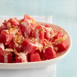 Coconut-Watermelon Salad