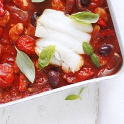 Cod and tomato tray bake