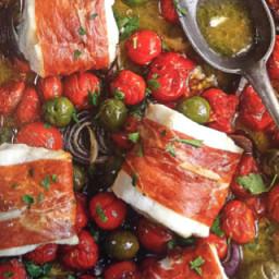COD, cherry tomato tray roast
