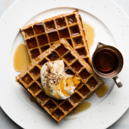 Coffee-Flavored Belgian Waffles