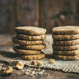 Coffee Nut Shortbread Cookies