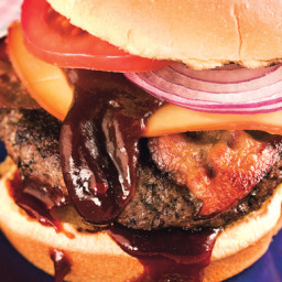 Coffee-Rubbed Cheeseburgers with Texas Barbecue Sauce